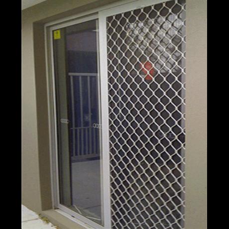 White Diamond Grille Security Door - Aus Secure