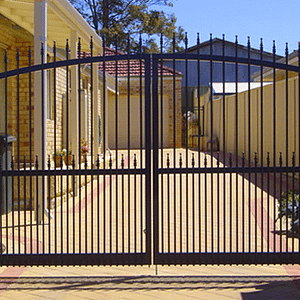 Black Hinged Gate - Aus-Secure