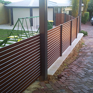 Wooden Slatted Security Fence - Aus-Secure