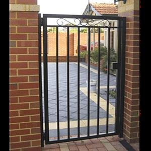 Pedestrian Gate Brick Fence - Aus-Secure