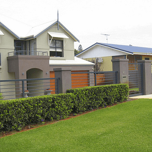 Grille Fencing and Gate Around House - Aus-Secure