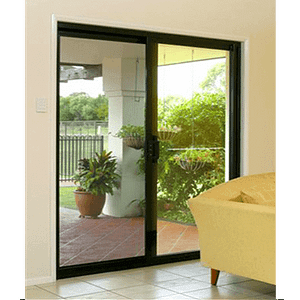 Black Frame Security Glass Door -Aus-Secure