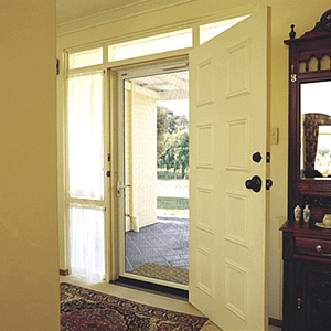 White Front Door of House - Aus-Secure