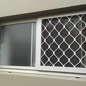 Security Screen on Bathroom Window - Aus-Secure