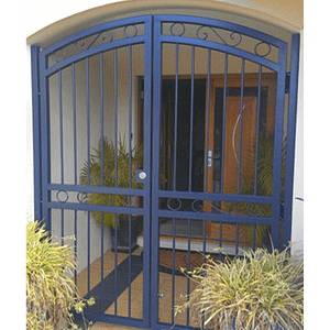 Security Gate in Front of House - Aus-Secure