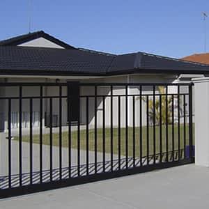 Black Steel Gate - Aus-Secure