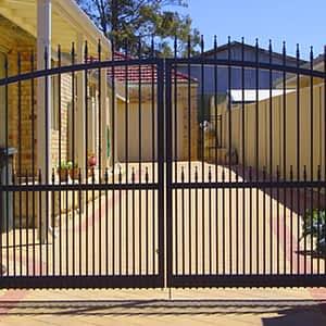 Black Hinged Gate - Aus-Secure