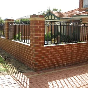 Brick Fence with Grille Infill - Aus-Secure