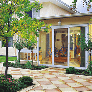 Open Security Doors Perth onto Pavers and Garden - Aus-Secure